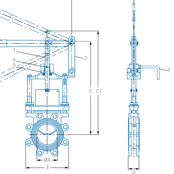Figure 459 Knife Gate Valves