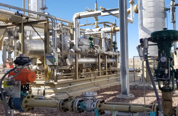 The discharge from a gas sweetening process requires further treatment to recover elemental sulphur from the gas processing plant.