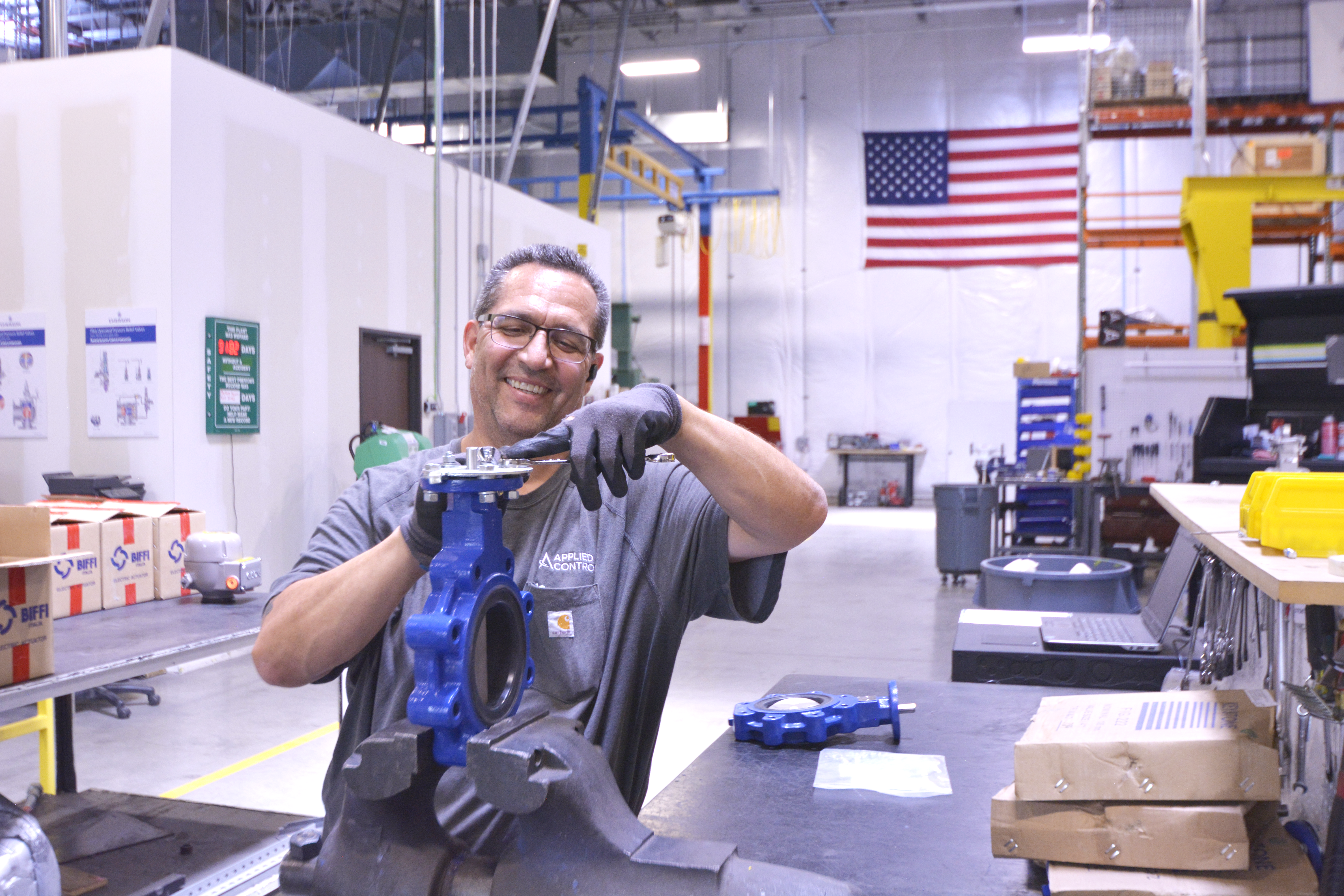 Our skilled shop technicians quickly assemble equipment for same-day pick-up