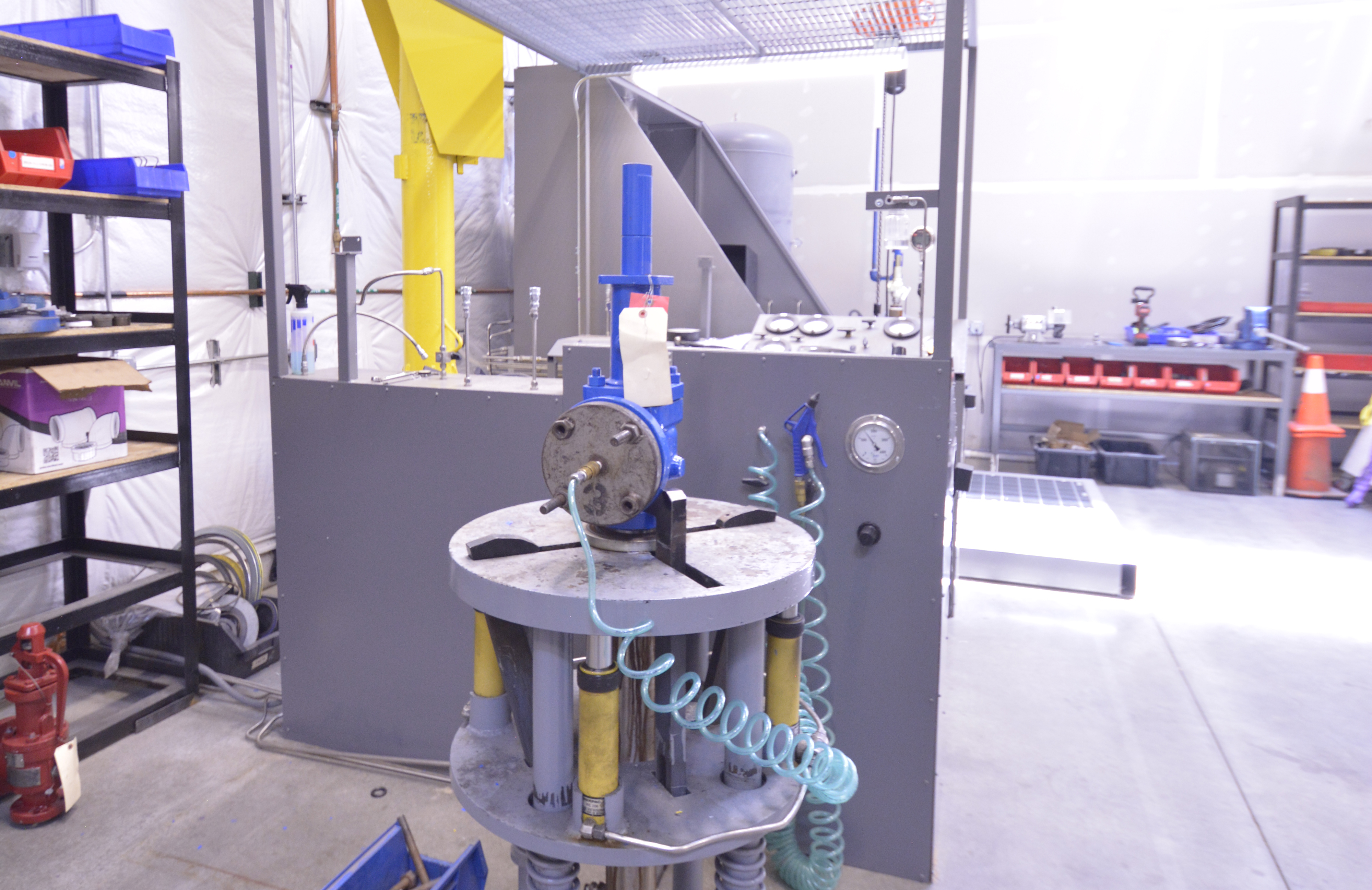 National Board-Certified Testing Area for Pressure Releif and Safety Valves - Air