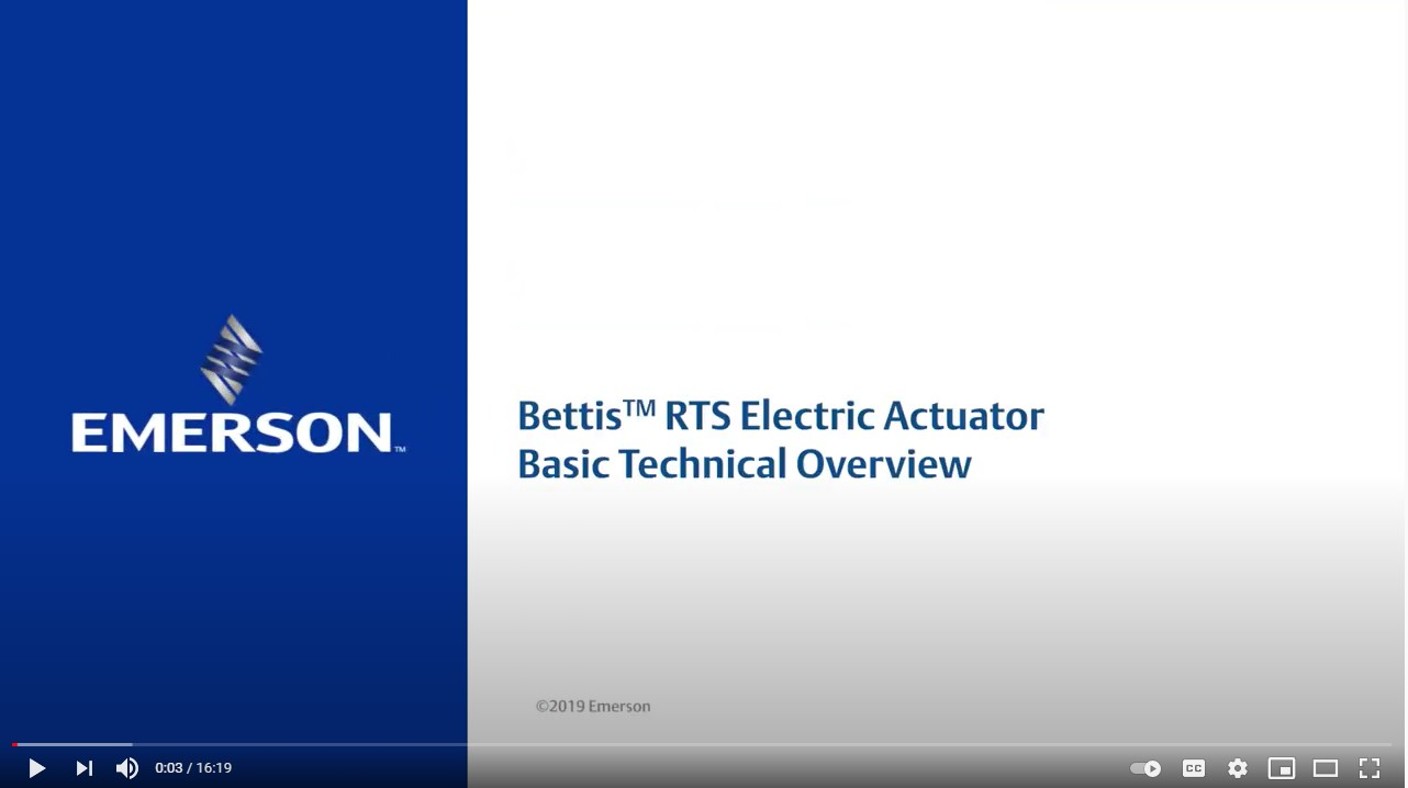 Bettis RTS Electric Actuator Technical Overview
